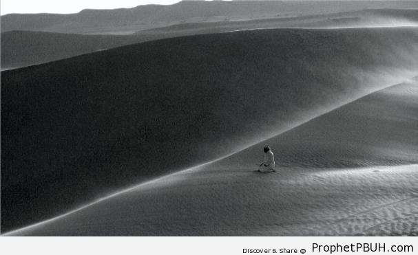 Prayer in Egyptian Desert - Photos