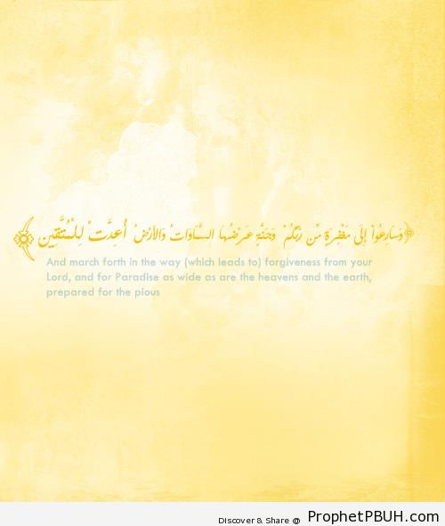 Quran 3-133 - Surat Al Imran - Islamic Quotes