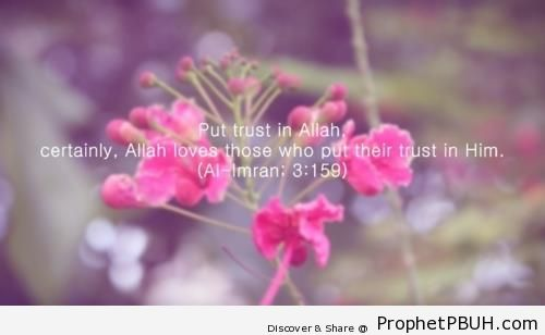 Quran 3-159 - Islamic Quotes About Tawakkul (Complete Reliance Upon Allah)