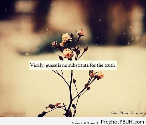 Quran 53-28 - Surat an-Najm - Photos