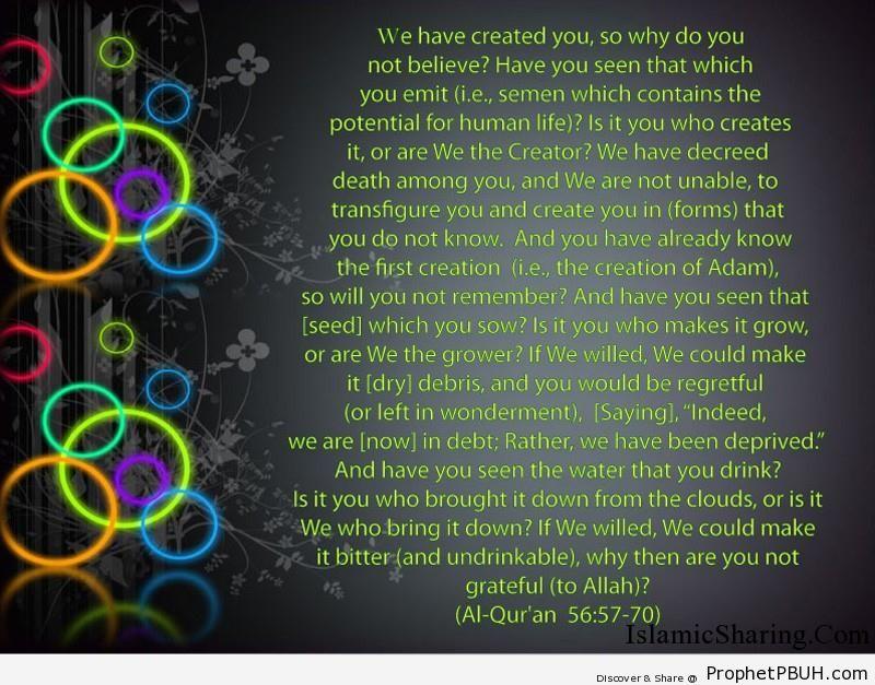 Quran Chapter 56 Verse 57 70