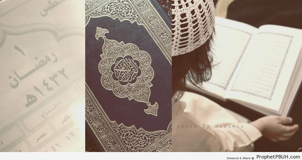 Ramadan 2011 Photo of Boy Reading the Quran - Mushaf Photos (Books of Quran)
