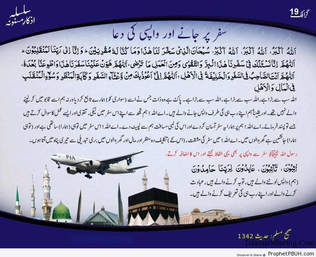 Safar par Janay aur Wapsi ki Dua