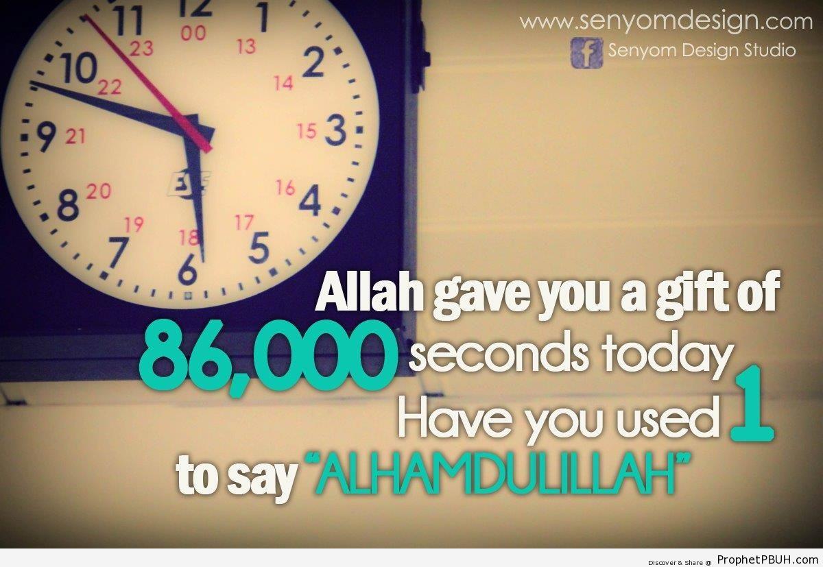 Saying Alhmadulillah - Photos of Clocks -