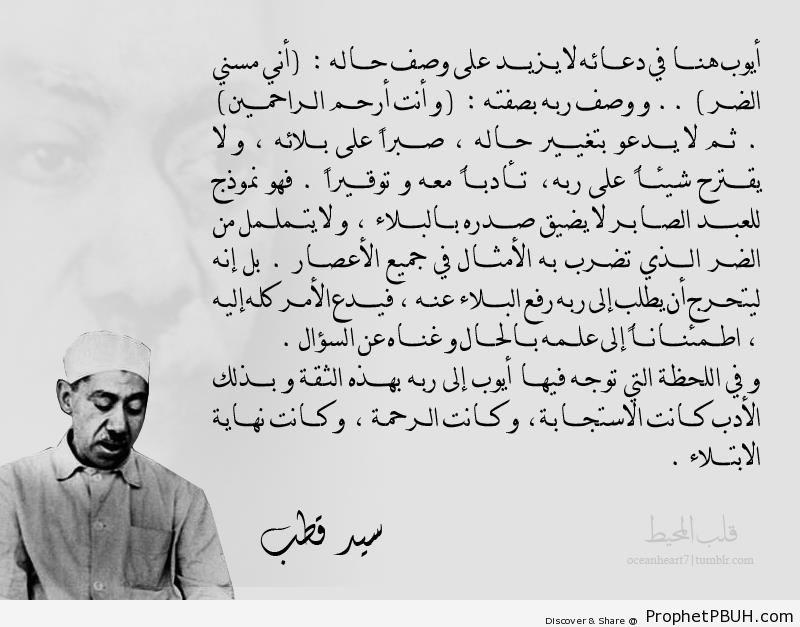 Sayyid Qutb on Prophet Ayyub-s Prayer (Quran 21-83) - Islamic Quotes