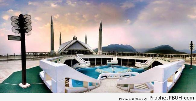 Scenic Photo of Islamabad Area from Faisal Mosque (Pakistan) - Faisal Mosque in Islamabad, Pakistan