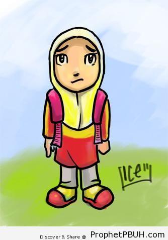 Schoolgirl Drawing - Drawings