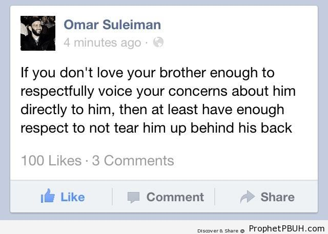 Shaykh Omar Suleiman- If You Don-t Love Your& - Islamic Quotes