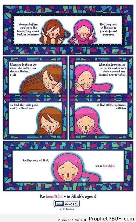 She is Beautiful - Drawings of Female Muslims (Muslimahs & Hijab Drawings)