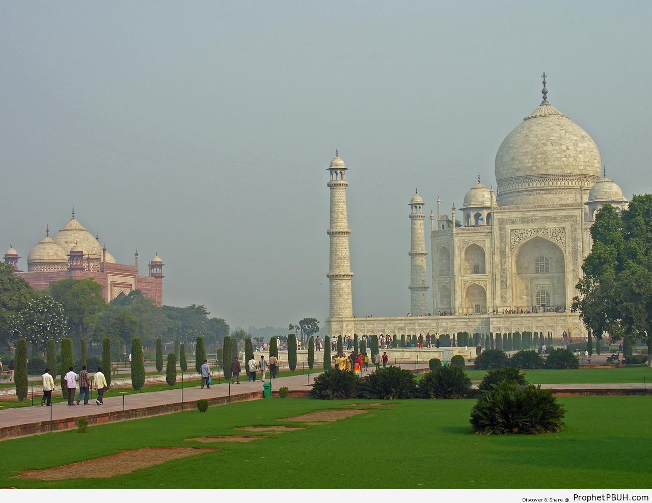 Taj Mahal Gardens - Agra, India -