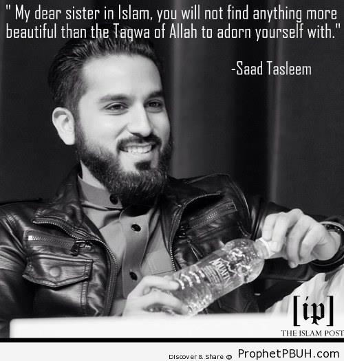 Taqwa of Allah (Saad Tasleem Quote) - Islamic Quotes