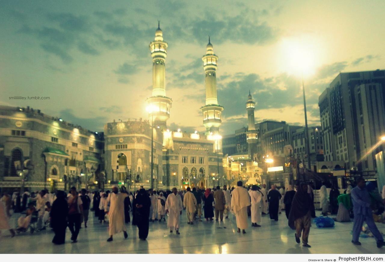 The Entrance of Masjid al-Haram After Fajr - al-Masjid al-Haram in Makkah, Saudi Arabia -Picture
