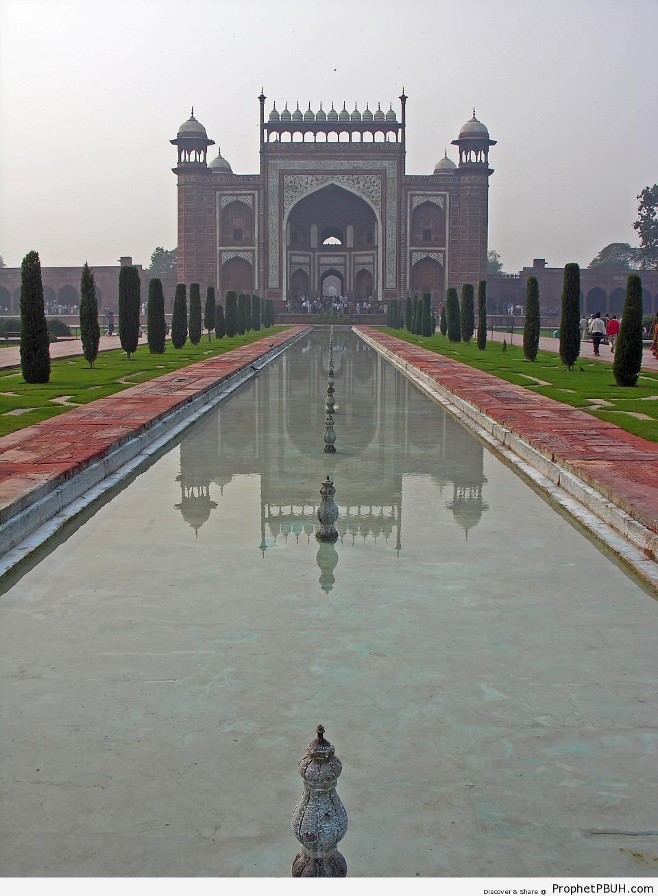 The Great Gate of Taj Mahal - Agra, India -