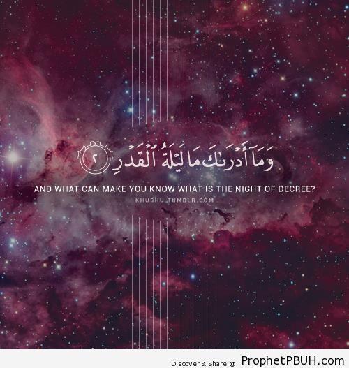 The Night of Decree (Quran 97-2) - Islamic Quotes