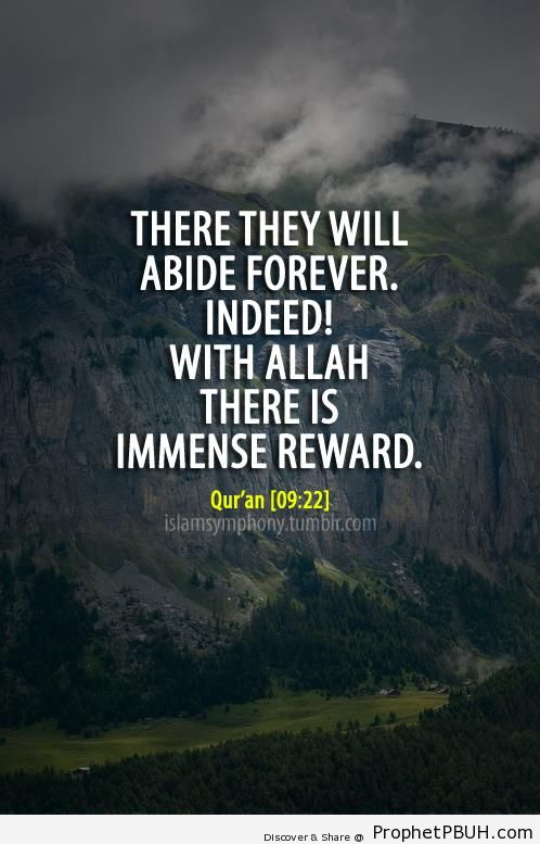 There they will abide forever - Islamic Quotes