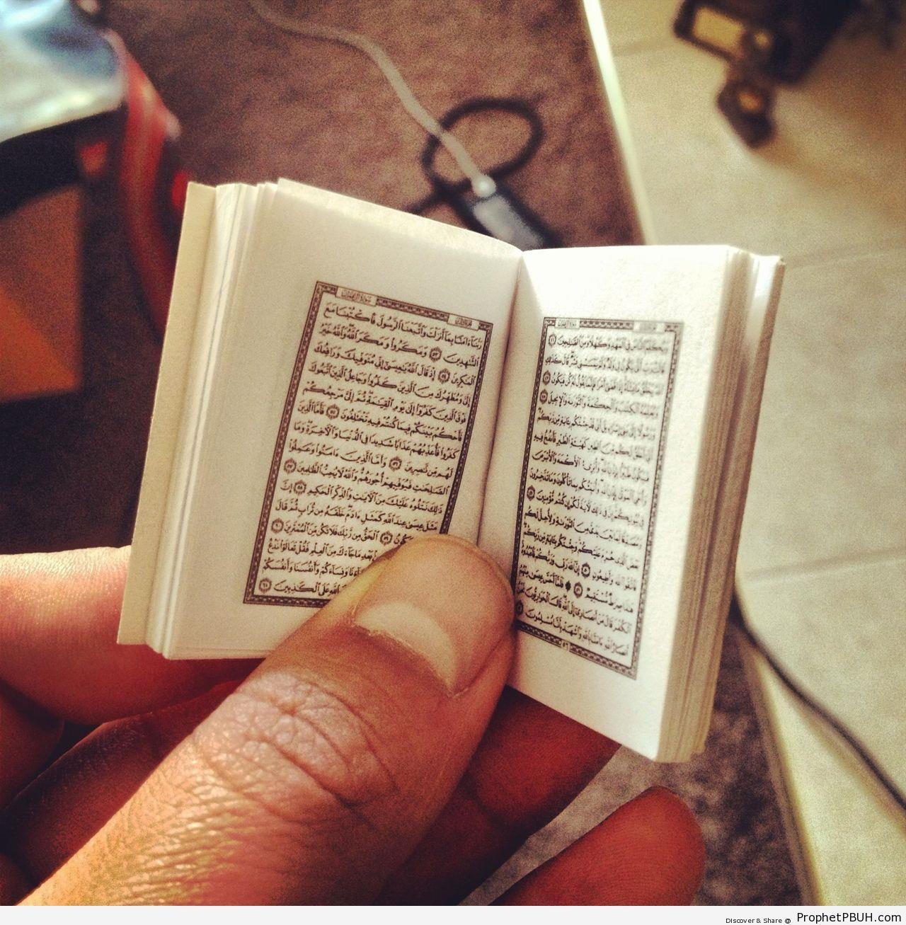 Tiny Book of Quran - Mushaf Photos (Books of Quran)