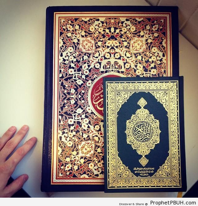 Two books of Quran with beautiful covers - Mushaf Photos (Books of Quran)