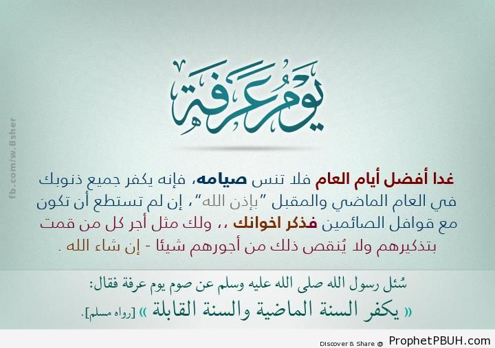 Virtue of the Day of Arafah - Islamic Quotes