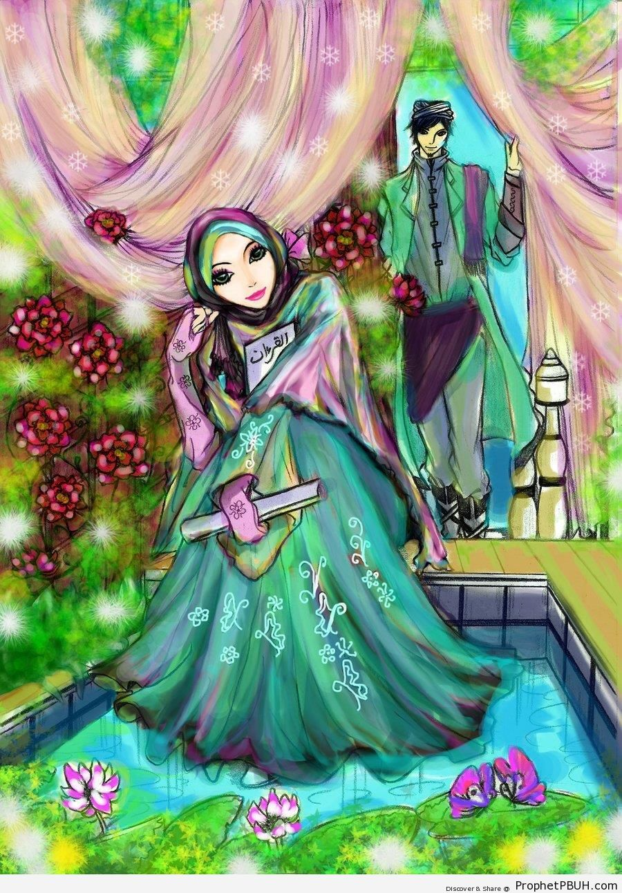Waiting With Quran - Drawings