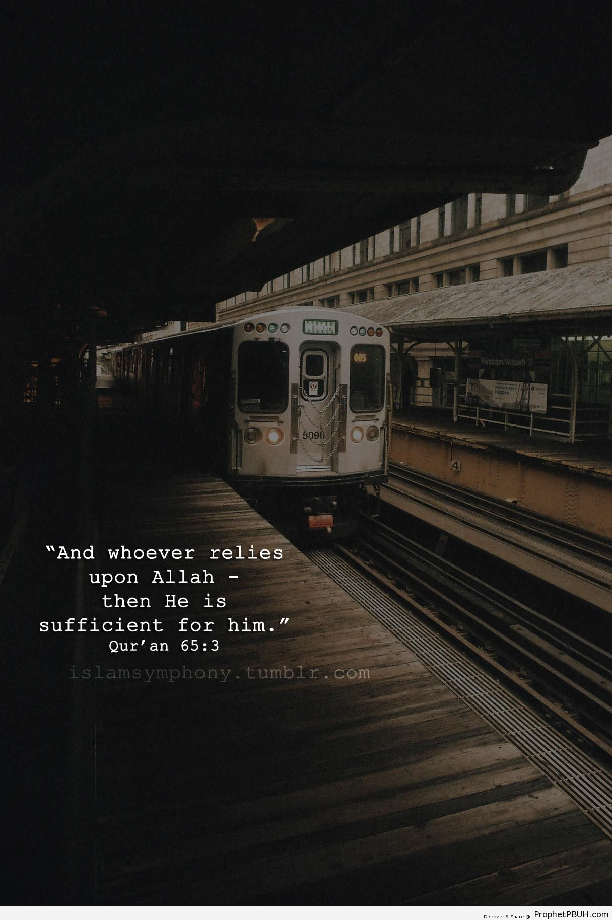 Whoever Relies Upon Allah (Quran 65-3) - Islamic Quotes