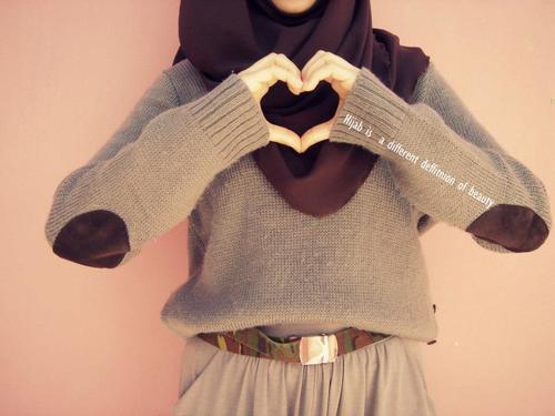 beauty, islam, muslimah, islamic quote, heart, hijab, love, quote