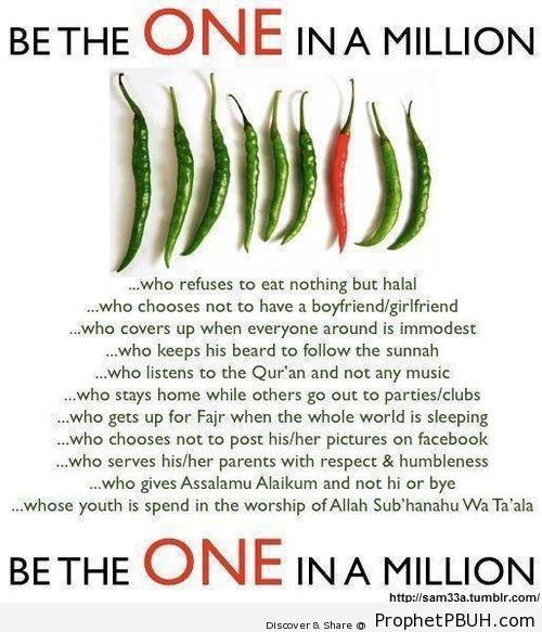 1 in a million - Islamic Quotes, Hadiths, Duas