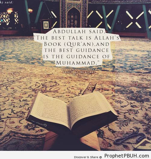 Best talk and guidance - Islamic Quotes, Hadiths, Duas