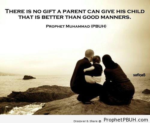 Good Manners - Islamic Quotes, Hadiths, Duas