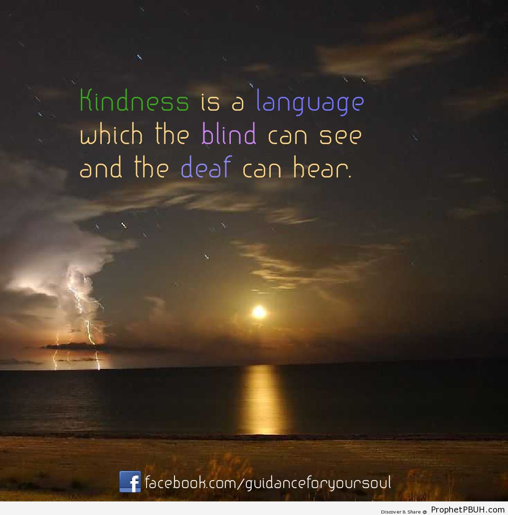 Kindness is a language which the blind can see and... - Islamic Quotes, Hadiths, Duas-001