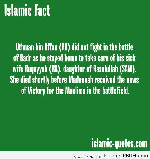 Sad story during battle of Badr - Islamic Quotes, Hadiths, Duas
