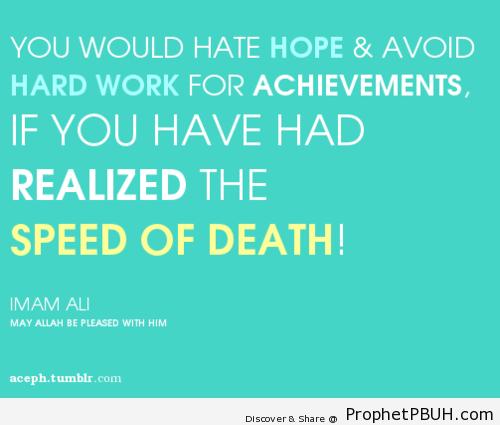 Speed of death! - Islamic Quotes, Hadiths, Duas