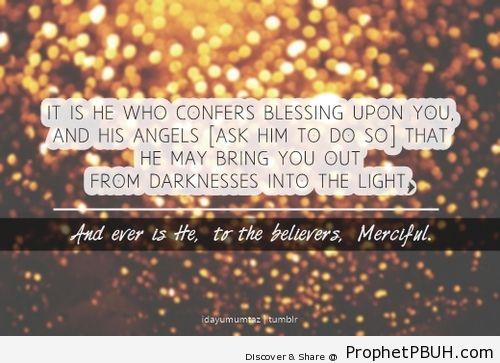 Surah Al-Ahzab Chapter 33 Verse 43 - Islamic Quotes, Hadiths, Duas
