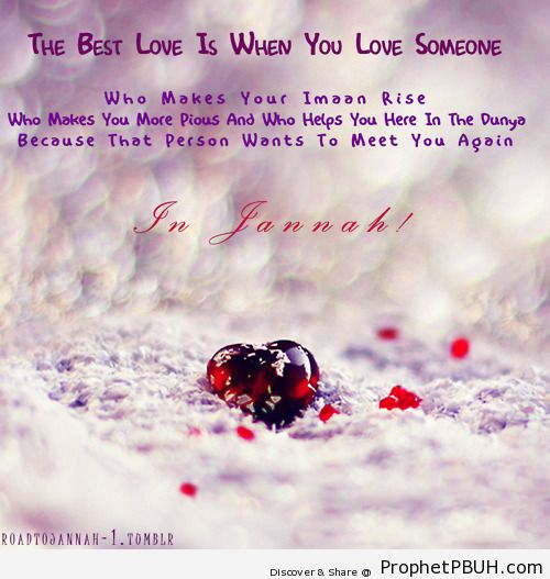 The best love - Islamic Quotes, Hadiths, Duas
