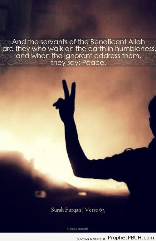 When the ignorant address them,... - Islamic Quotes, Hadiths, Duas