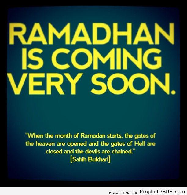 coming soon - Ramadhan - Islamic Quotes, Hadiths, Duas
