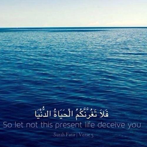 Dont let life deceive you. Surah Fatir