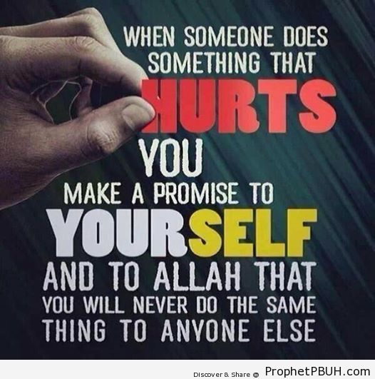 Make a promise to not hurt anyone.