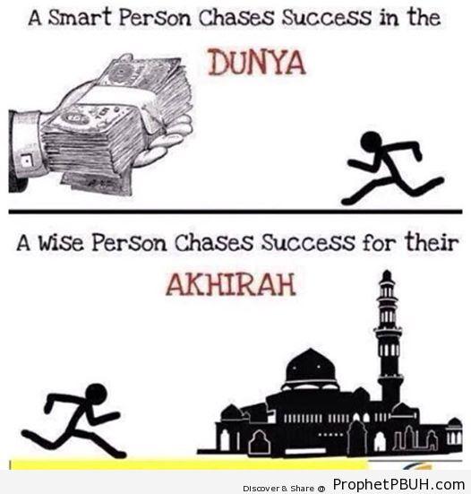Success in Akhirah is the true Success of Dunya.