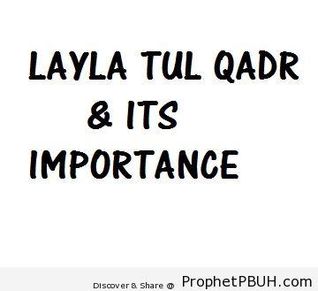 Lailatul Qadr: It's Significance