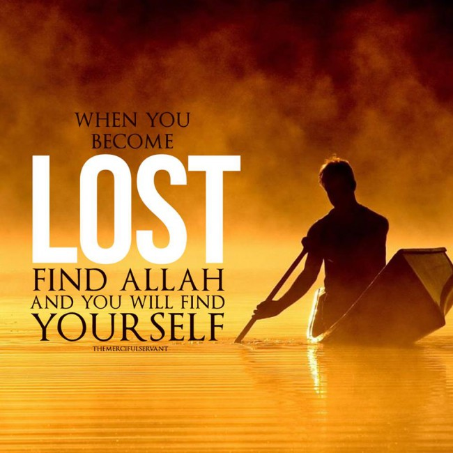 When You are Lost...