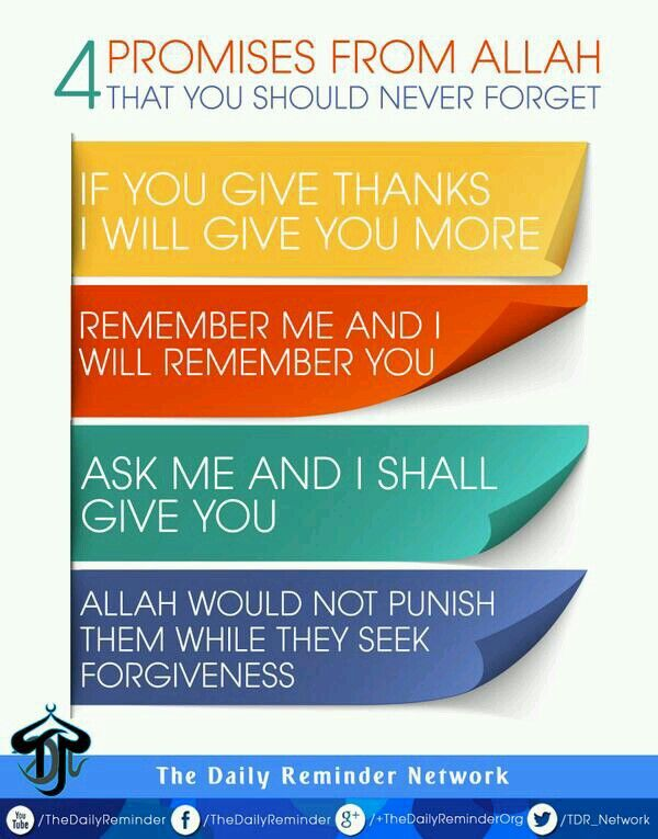 4 Promises Of Allah SWT