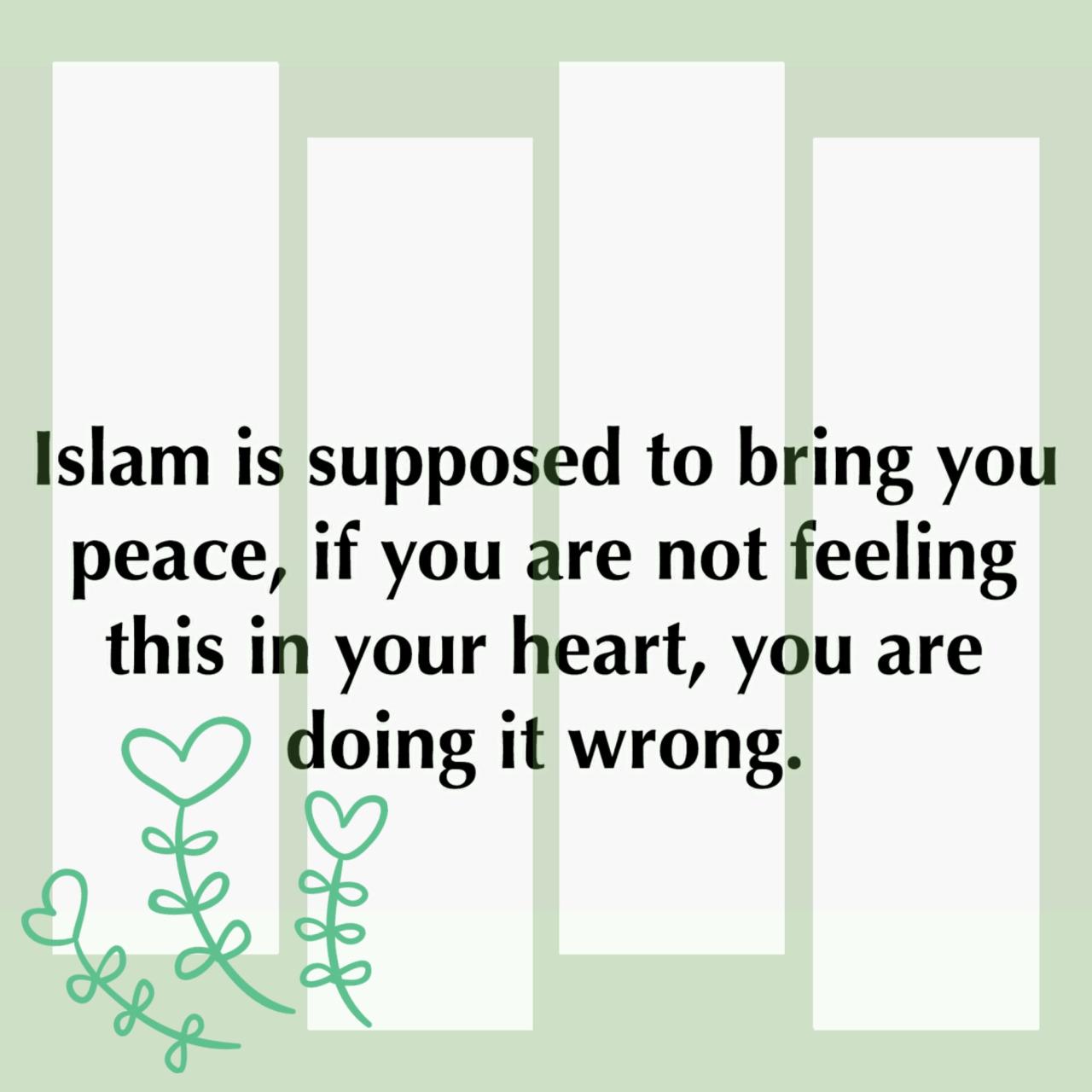 Islam brings peace