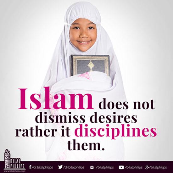 Islam disciplines desires