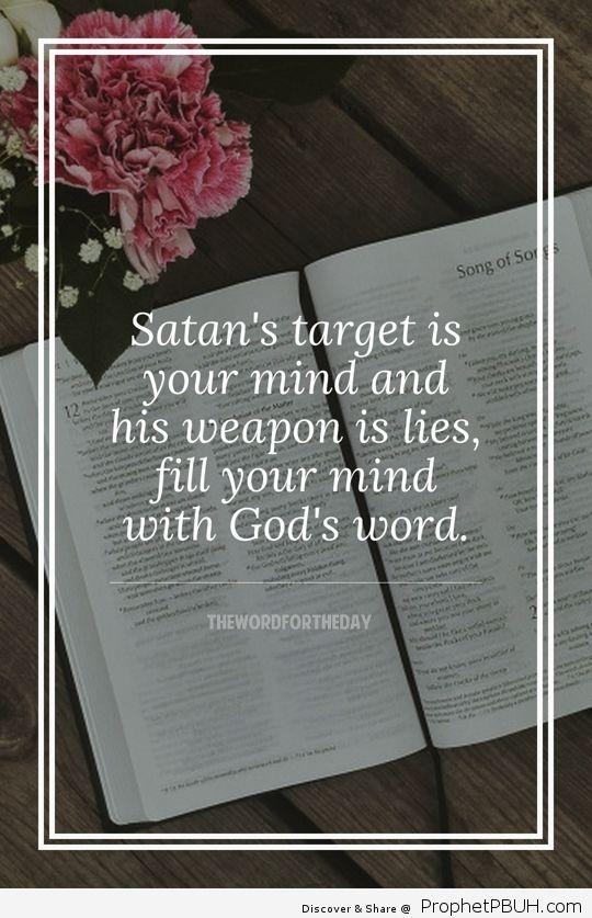 "We are not ignorant of satan's devices"" 2 Corinthians 2_11"