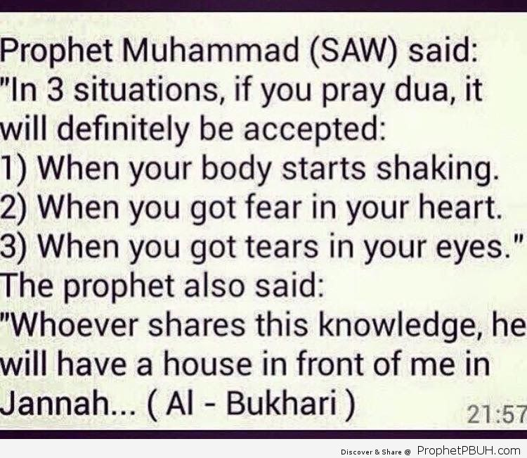 3 situations in which dua will definitely be accepted_ 1