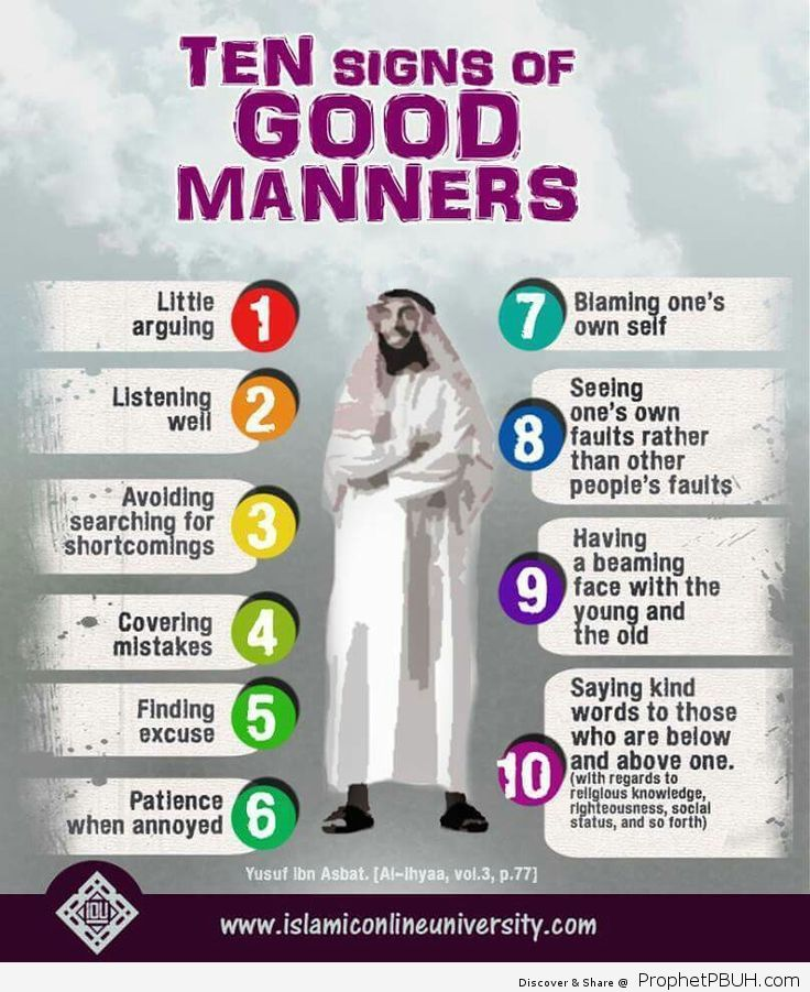 Ten Signs of Good Manners