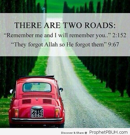 There are two roads. May Allah keep us firm on his deen. Ameen